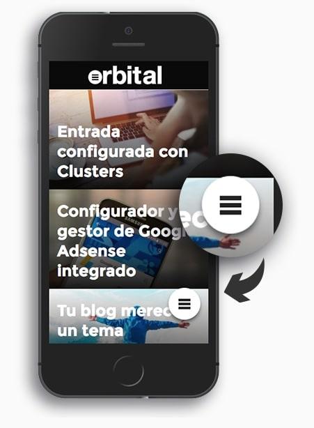 menu flotante orbital