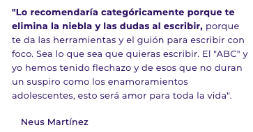 testimonio del abc del copywriting