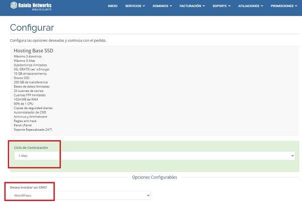 configurar hosting raiola networks
